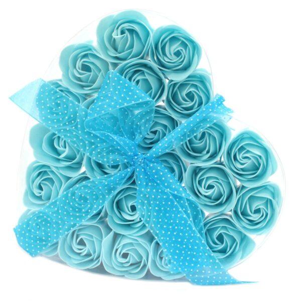 Sinised seebiroosid kinkekarbis 24 tk