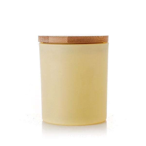 Küünlaklaas 300 ml kollane koos kaanega