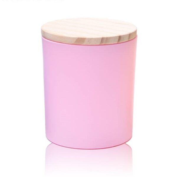 Küünlaklaas 300 ml roosa koos kaanega